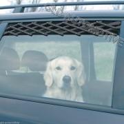 GRIGLIA AERAZIONE Finestrino Auto 30-110cm Trixie per Cane Animali in Viaggio