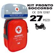 KIT DI EMERGENZA CASSETTA DI PRIMO PRONTO SOCCORSO per Moto Bici KIKSAFE