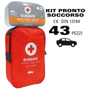 KIT DI EMERGENZA CASSETTA DI PRIMO PRONTO SOCCORSO per AUTO FURGONI KIKSAFE