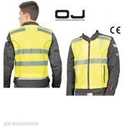 Gilet di emergenza OJ FLASH TG xl/xxl/xxxl certificato EN1150 giallo fluorescente