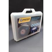 Manometro a pressione in bagno di glicerina PIEGA Diametro 60mm scala da 0-4 bar + psi