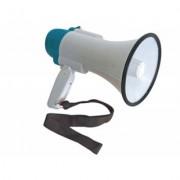 MEGAFONO 10 Watt Abs Pieghevole Cinghia Regolazione Volume Sirena Eventi Guide