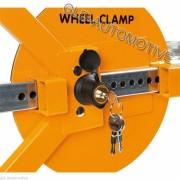 GANASCIA BLOCCA RUOTA Wheel Clamp ANTIFURTO MECCANICO Auto Ripieghevole